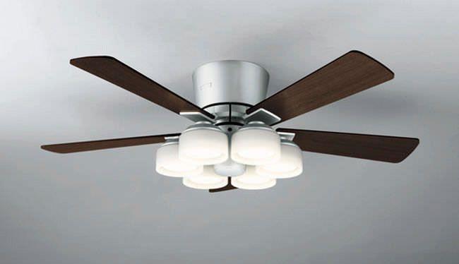 WF209PC LED 調光調色(電球色-昼白色) 6灯 薄型 ODELIC(オーデリック)製シーリングファンライト