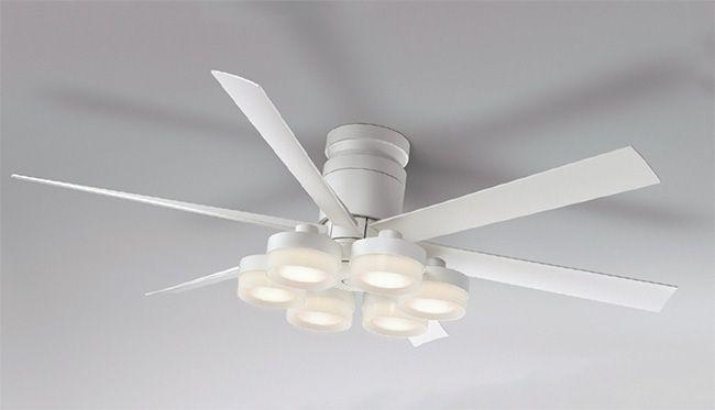 WF237 + WF267PC 大風量 LED 調光調色(電球色-昼白色) 6灯 薄型 ODELIC(オーデリック)製シーリングファンライト