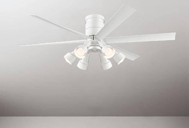 WF237 + WF277PC 大風量 LED 調光調色(電球色-昼白色) 6灯 軽量 ODELIC(オーデリック)製シーリングファンライト