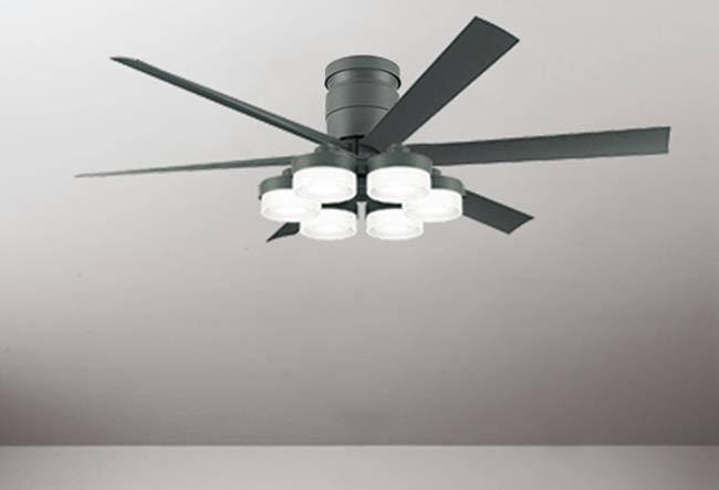 WF247 + WF269PC 大風量 LED 調光調色(電球色-昼白色) 6灯 薄型 ODELIC(オーデリック)製シーリングファンライト