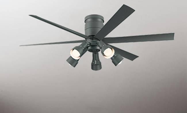 WF247 + WF280PC 大風量 LED 調光調色(電球色-昼白色) 5灯 軽量 ODELIC(オーデリック)製シーリングファンライト