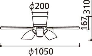 WF418L / WF418N ODELIC(オーデリック)製シーリングファンライト【生産終了品】