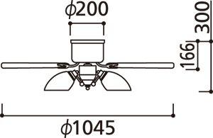 WF444PC1 LED 調光調色(電球色-昼白色) 5灯 薄型 ODELIC(オーデリック)製シーリングファンライト