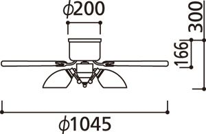 WF547PC1 LED 調光調色(電球色-昼白色) 5灯 薄型 ODELIC(オーデリック)製シーリングファンライト