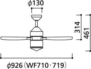 WF719 ODELIC(オーデリック)製シーリングファン【生産終了品】