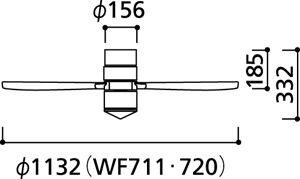 WF720 ODELIC(オーデリック)製シーリングファン【生産終了品】