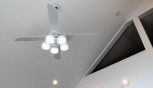 WF801P1 + WF265PC + WF973 傾斜対応 LED 調光調色(電球色-昼白色) 5灯 ODELIC(オーデリック)製シーリングファンライト