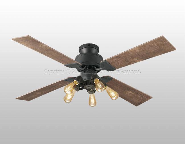 WF830 + WF835LC 大風量 LED 調光 電球色 5灯 薄型 軽量 ODELIC(オーデリック)製シーリングファンライト