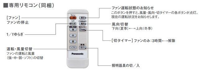XS7510/SP7075 + SPK011K + SPK071 傾斜対応 軽量 Panasonic(パナソニック)製シーリングファン