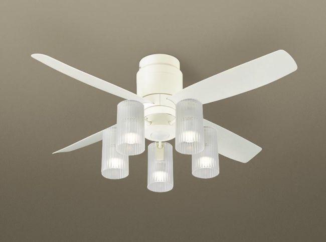 XS70012Z/SP7070 + SPL5512Z / SPL5512Z(D) 大風量 LED 電球色/昼光色 5灯 軽量 Panasonic(パナソニック)製シーリングファンライト