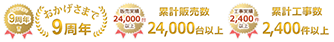 おかげさまで9周年!fazooは累計販売台数24000台以上、累計工事件数2400件以上
