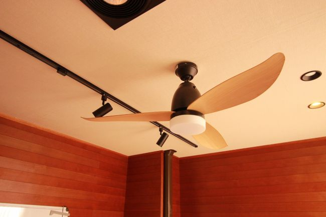 46ZSM-1347 傾斜対応 LED 調光 昼白色 1灯 軽量 TOKYOMETAL(東京メタル工業)製シーリングファンライト