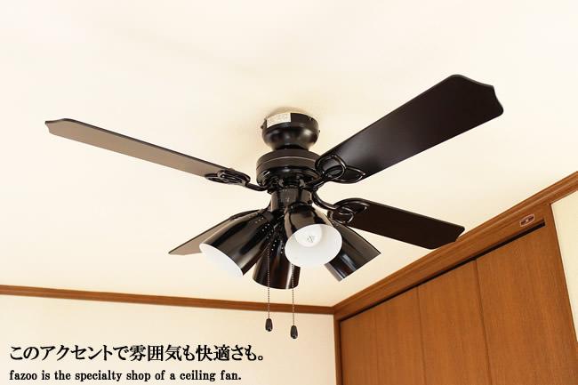 TKM-42BK4LKEFZ 電球色 4灯 軽量 TOKYOMETAL(東京メタル工業)製シーリングファンライト